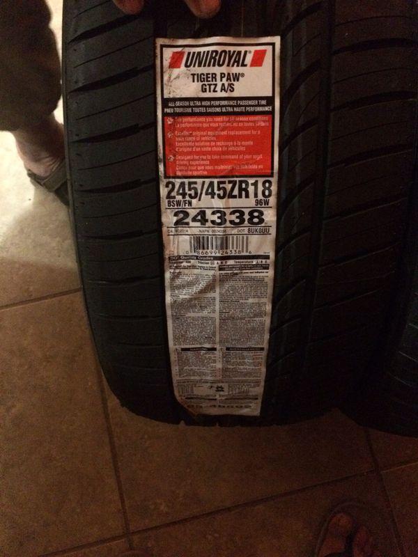 New Uniroyal tire