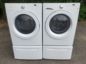 Frigidaire washer and gas dryer set good working condition set for $349 for Sale in Wheat Ridge, CO