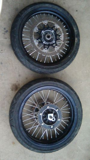 Kawasaki 17'brand new tires front and back rim for Sale in Tulare, CA