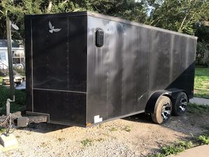 2017 Lark 7x16ft enclosed trailer Clean Title for Sale in Houston, TX