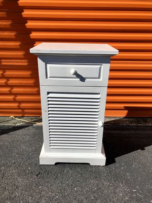 Pier 1 Imports Small White Cabinet for Sale in Valrico, FL