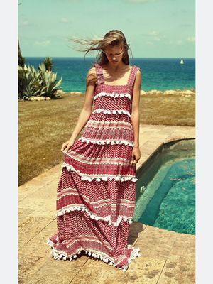 DoDo Bar Or Cotton Amal Tiered Maxi Dress - size S for Sale in Brooklyn, NY