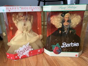 Vintage Happy Holidays Special Edition Barbie Dolls 1989 & 1991 Christmas rare toys for Sale in Berkeley Township, NJ