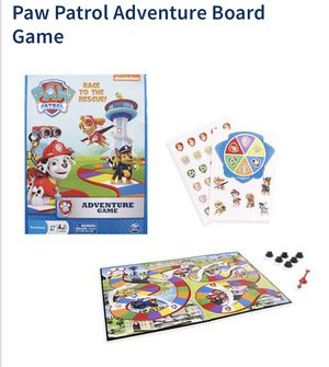 Pre-owned complete Paw patrol Adventure Board Game (age 4+), 2-6 players for Sale in Minneapolis, MN