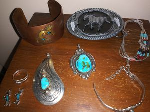 .925 sterling and turquoise jewelry bundle for Sale in Glendale, AZ