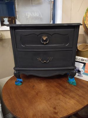Vintage Black French Provincial Nightstand for Sale in Costa Mesa, CA
