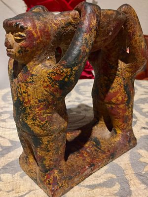 Circle of 2 Friends, Rare hand made pottery candle holder H7.5xL8xW3 inch for Sale in Chandler, AZ