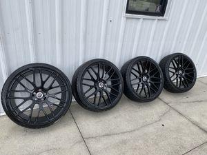 22inch Black Spec-1 Rim & 265/30 Tires with full 5x115 lug set for Sale in Tampa, FL