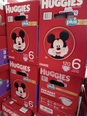 Huggies little movers plus size 6/120 diapers/$47/box for Sale in Gardena, CA