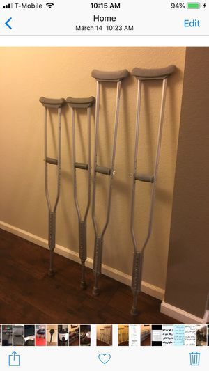 Crutches one set left short one for Sale in El Cajon, CA