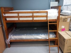 Twin over Twin Walnut bunk bed for Sale in Columbus, OH