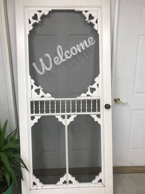 Screen Door- Welcome Sign for Sale in Pinconning, MI