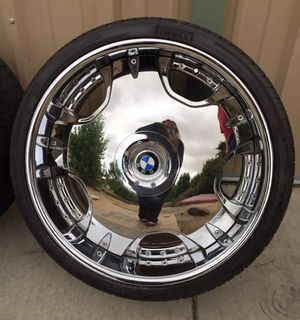 "Lowenhart LDR 22"" Rims/wheels w/ Pirelli Flat Run Tires for Sale in Ione, CA"