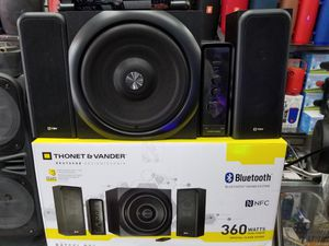 QUALITY BLUETOOTH SHELF SYSTEM WITH SUBWOOFER 360 WATTS . BRAND NEW SEALED BOX for Sale in Los Angeles, CA