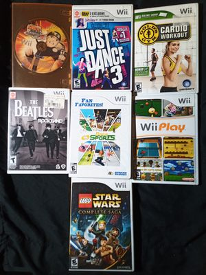 Wii Games $10 each for Sale in Tampa, FL