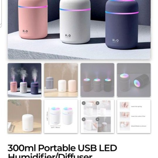 BRAND NEW USB HUMIDIFIERS...USE WITH OR WITHOUT ESSENTIAL OILS...