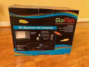 Fish aquarium with glowing light for Sale in Libertyville, IL
