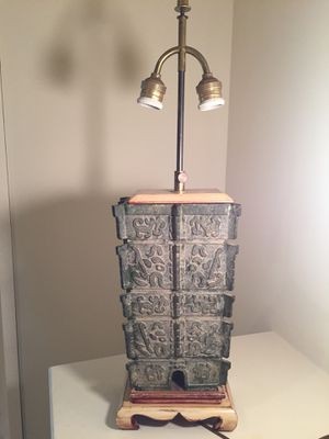 Chinese Archaic Style Bronze Vessel Lamp for Sale in Bethesda, MD