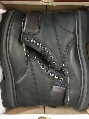 Black Work Boots Size 6-10 for Sale in Downey, CA