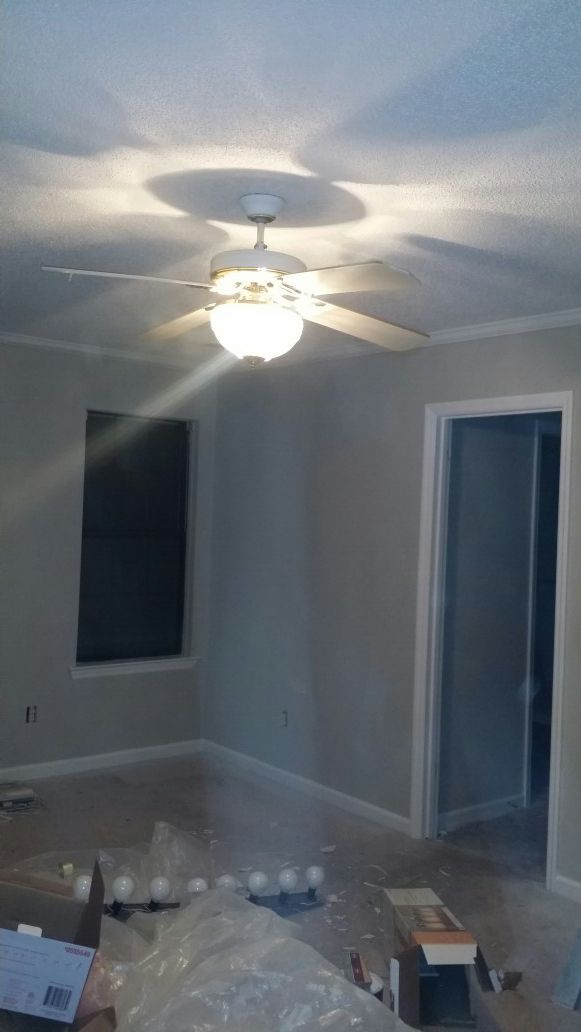 Lights fixtures and fan..