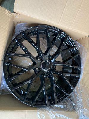 "Audi 19"" new blk rims tires set for Sale in Hayward, CA"