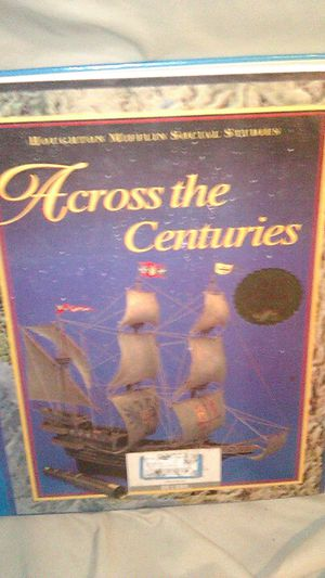 HOUGHTON MIFFLIN SOCIAL STUDIES - ACROSS THE CENTURIES HARD BACK BOOK for Sale in Columbus, OH