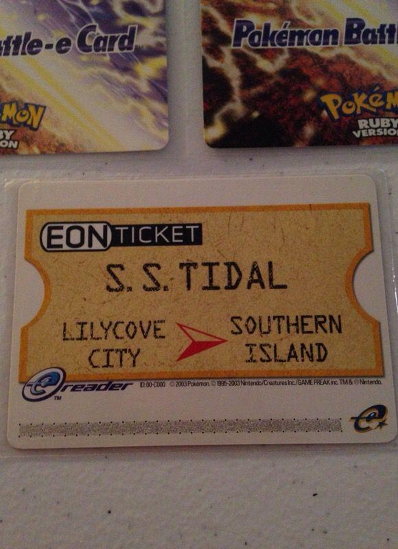 Eon Ticket Ecard