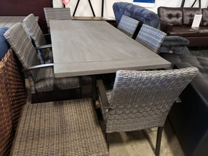 New 7pc outdoor patio furniture dining set tax included delivery available for Sale in Hayward, CA