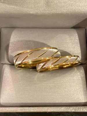 18K Gold plated Engagement Wedding Matching Ring Set Jewelry for Sale in Dallas, TX