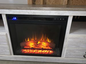 Eléctric fire place | tv stand for Sale in Raleigh, NC