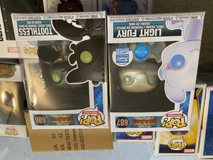 Funko POP Toothless and Light Fury for Sale in Seattle, WA