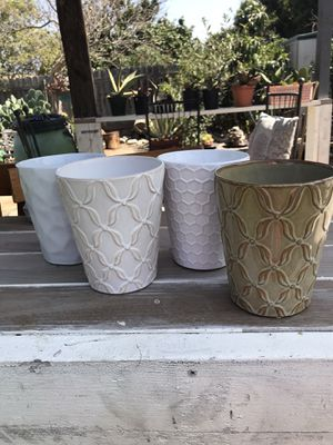 Flower pots , vases orchids see pics for size they are available for Sale in Vista, CA