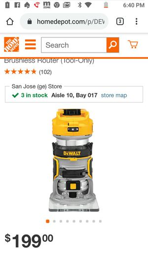 DeWalt **brand new in box*** 20-Volt MAX XR Lithium-Ion Cordless Brushless Router (Tool-Only) for Sale in San Jose, CA