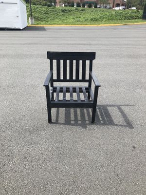Black wooden large chair for Sale in Alexandria, VA