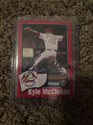 Kyle McCellan Autographed Baseball Card for Sale in Wildwood, MO