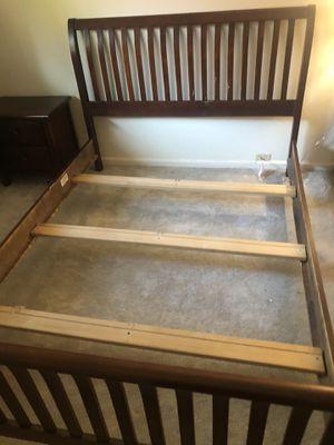 Cherry Wood 3 Piece Queen Bedset for Sale in Walnut Creek, CA