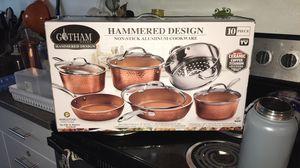 gotham steel 10pc pot&pan set for Sale in Seattle, WA