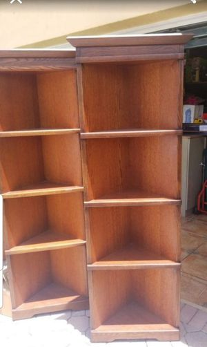 "2 Corner Bookshelves -6' x 14"" for Sale in Miami, FL"
