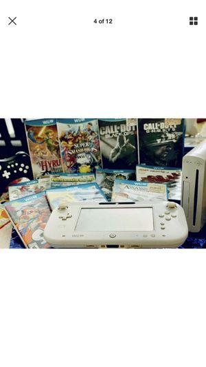 Nintendo Wii U Bundle 8GB White Handheld System(Please Read Details) for Sale in Palmdale, CA