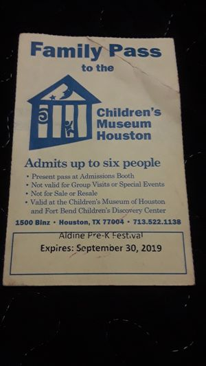 Buy something from my page and get a free museum ticket for Sale in Houston, TX