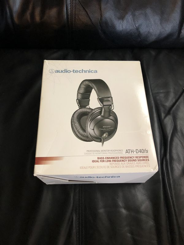 Audio Technica D40fs Bass Enhanced Pro Headphones
