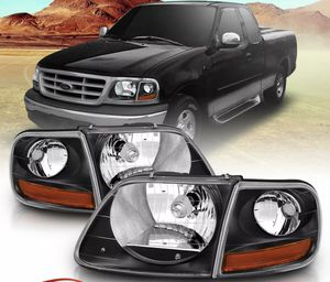 For 97-03/02 Ford F150/ Expedition Lightning Style Black Headlight + Corner Pair Pre Installed DOT Compliant Bulbs included. for Sale in Renton, WA
