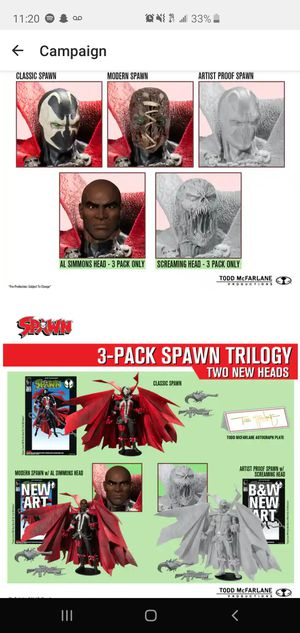 Kickstarter Spawn 3 Pack Trilogy **Signed** will trade for Shfiguarts Dragon Ball figures and more. Read description. for Sale in Anaheim, CA