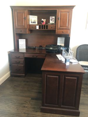 Office desk with hutch for Sale in Fort Worth, TX
