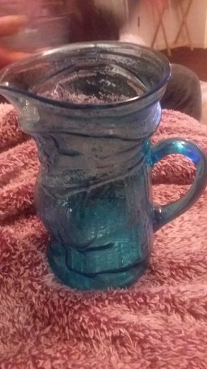 Antique blue glass pitcher for Sale in Marietta, GA