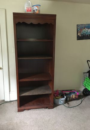 Library style shelf with built in light for Sale in Roanoke, VA