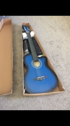 New acoustic guitar in box. With bag and other accessories for Sale in El Cajon, CA