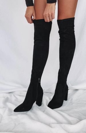 Thigh high black boots (NEW) for Sale in Queens, NY
