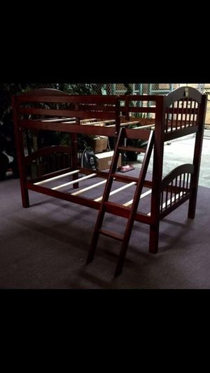 Twin/Twin bunk bed with mattresses (free delivery) for Sale in Irving, TX