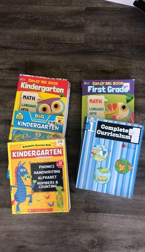 Kinder and 1st grade workbooks for Sale in Clovis, CA